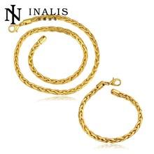 Popular Shiny European Design Gold Plated Women's Wholesale Set Jewelry Supplies