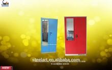 Warranty frosted glass door wardrobe cabinet/metal wardrobe