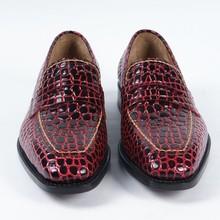 Mans Dress shoes men's tassel loafer leather shoes fashion handmande Scarlet leather loafer style Dress Shoes