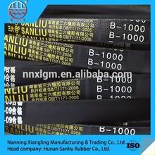 China v belt exporter offering high quality rubber belt transmission v-belt