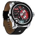 Limitada! El diseño especial de lujo de la marca weide reloj deporte correa de cuero genuino para hombres diseño fresco reloj de buzo wh2305-4