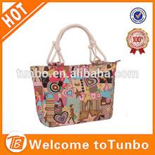 New arrival fashion canvas high quality waterproof handbag for women