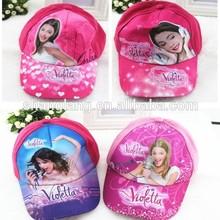 new Baby girls Violetta Baseball Cap/kids Cartoon sun caps/Children sport hats