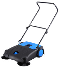 manual street sweeper for clean leaf and paper