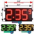gás estação digital led preço do gás sinal