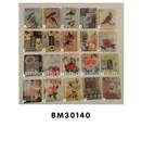 square shape bird, flower, clear epoxy fridge magnet