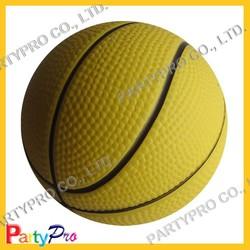 Partypro 2015 New Wholesale PU FOAM 4/5/6.3CM DIA Custom Rubber Basketball Ball