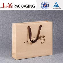 Hemp paper bags 2015 welcomed high value custom printed paper bags no minimum