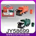 liga modelo de coletor de lixo diecast atrito roda de lixo caminhão de brinquedo para criança