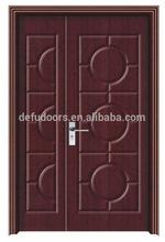 Double flush simple design inerior door