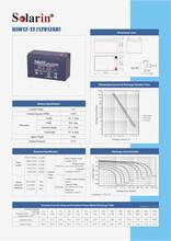 mini 500w renewable 6v 6ah rechargeable sealed lead acid battery