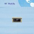 Pequeno luxo semi- automática de bloqueio do cilindro portátil cashbox metal caixa de dinheiro seguro