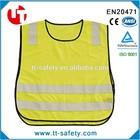 EN1150 high quality kid safety jacket 100%polyester kids knit vest pattern child sleeveless sweater
