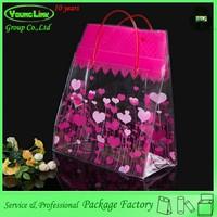 High quality Popular design china handle plastic hat bag for market