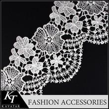 Eyelet Trim Skirt Cotton Lace for Lingerie/3D Jacquard Elastic Lace Trim Border