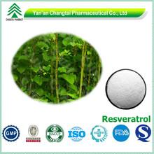 Natural source plant extract GMP bulk pure Resveratrol
