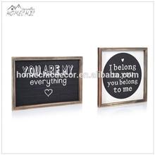 Wood home small chalk board black board writing board