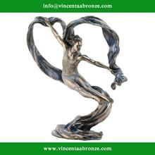 2015 hot sale garden decoration Erotic Nude Bronzed Female Figurine