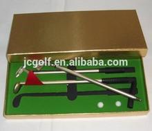 High quality office mini golf club Ballpoint Pen gift set