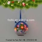 Three Snowmen Flash LED Light Ball Christmas Tree Decoration Hanging Ball