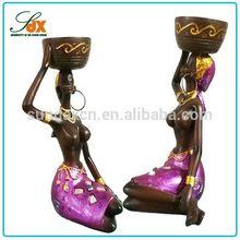 Professional custom resin sitting women figurines home decoration