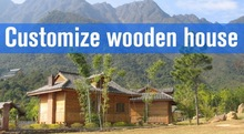 Hotel, house, office, villa use and wooden, log material prefab house with luxurey decoration