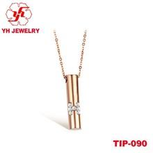 2015 Rose Gold Titanium Pendant With Diamond Cross Design For Ladies Outstanding Quality