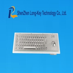 Low price and high quality auto USB metal keyboard with trackball