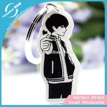Cartoon Acrylic Keychain with Circle