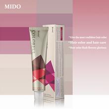 Low ammonia contains mink oil hair dye cram hair dye color cream for salon