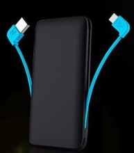 universal cell phone battery charger power bank rubber oil case 5000mah li polymer battery