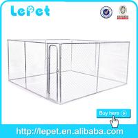large iron metal dog run fence kennel
