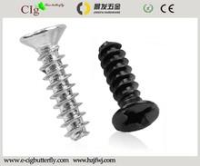 Cross recessed tapping screws flat head flat tail