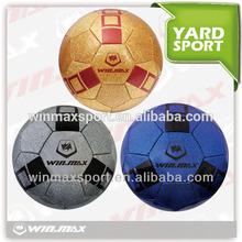 Winmax brand cheap custom deflated rubber football/ soccer ball