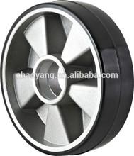 Hand pallet truck black pu Al core wheel 200*50