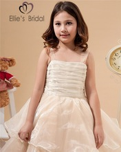 2015 champagne prom vintage dress for little girls wholesale little girls pageant dresses dresses for girls of 13 years old