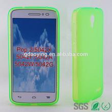 Green pudding cheap designer mobile phone cases for Alcatel POP2 5042X