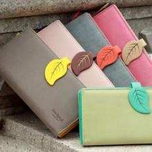 Woman Leather Wallet Clutch Lady Handbag Phone Case Money Card Case