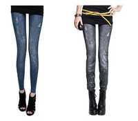 comfortable elastic jeans fancy design elastic jeans pants