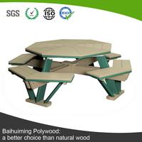 Octagon Wood Plastic Composite Outdoor Furniture