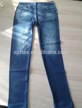 Jambières de cuivre Polyester transparente imprimé Jeans pour femmes