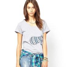 Funny design printing women t shirt
