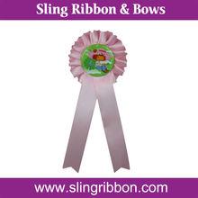 2015 Hot sale Handmade Satin Ribbon Award Rosette Medal
