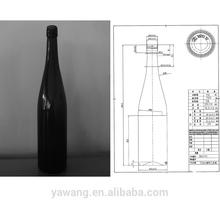 750ML antique green Bordeaux Wine Bottle with srew cap