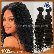 wholesale deep curly raw virgin brazilian hair,hair weave,curly hair weft