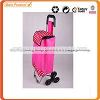 China high quality six wheel shopping trolley bag
