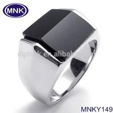 316L Stainless Steel Silver Black Tone Men Fashion Ring