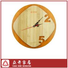 Modern Fashion Bamboo silence wall decorative clock