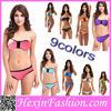 Nine Colors two pcs women sexi hot girls bikini without strapes