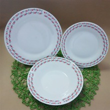 cheap fine porcelain dinner set with full decal, germany dinner set porcelain for restaurant